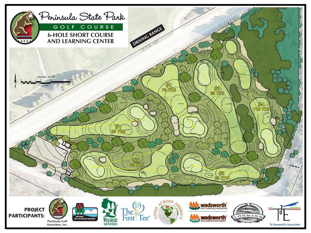 Peninsula State Park Golf Course  Ephraim WI  Door